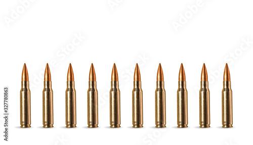 Fotografiet row of bullets