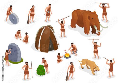 Caveman Prehistoric People Set