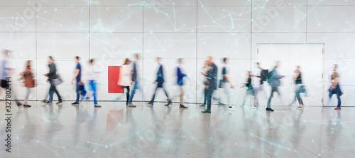 Foto Digitale Vernetzung von Geschäftsleuten als Konzept