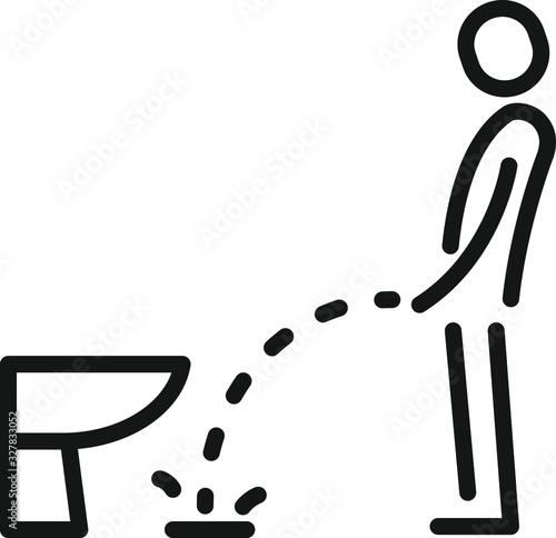 Canvas Print Man urinating icon