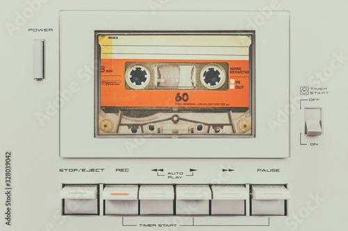 Fotografie, Obraz Retro styled image of a vintage audio cassette player