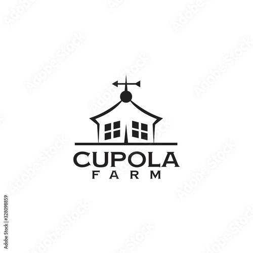 Cupola farm logo design icon vector template Poster Mural XXL