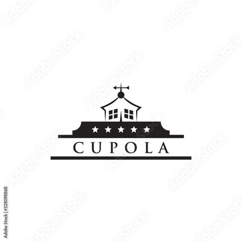 Photographie Cupola farm logo design icon vector template