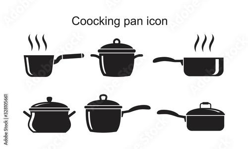 Obraz na plátně Coocking pan icon template black color editable