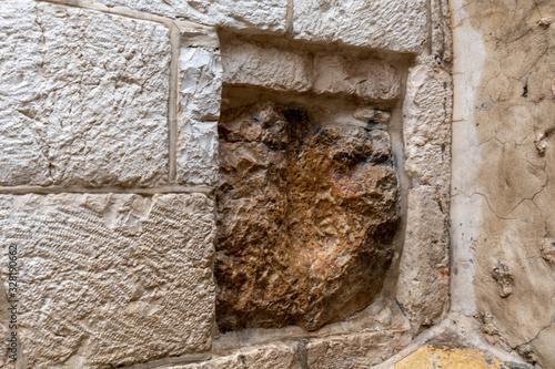 Obraz na płótnie The handprint of Jesus in Jerusalem
