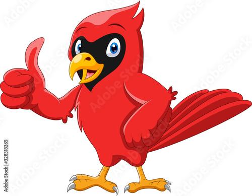 Fotografía Cute cartoon beautiful cardinal bird thumb