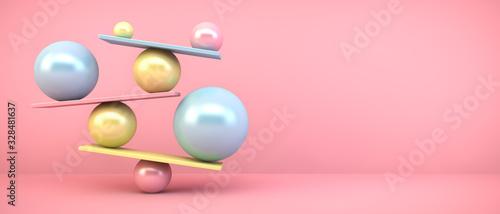 Fotografija colorful balancing balls