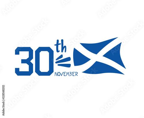 Canvas Print National day of Scotland symbol