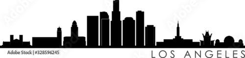 Photo Los Angeles Skyline Silhouette Cityscape Vector
