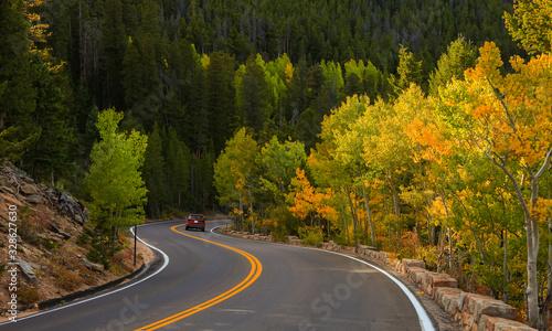 Fotografia Scenic Trail ridge road in Rocky mountain national park, Colorado