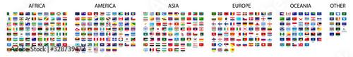 Fotografia, Obraz Flag of world. Vector icons. Set flags.