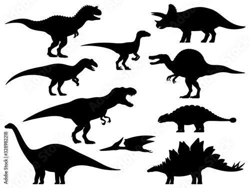 Vector dinosaur silhouette Fototapete