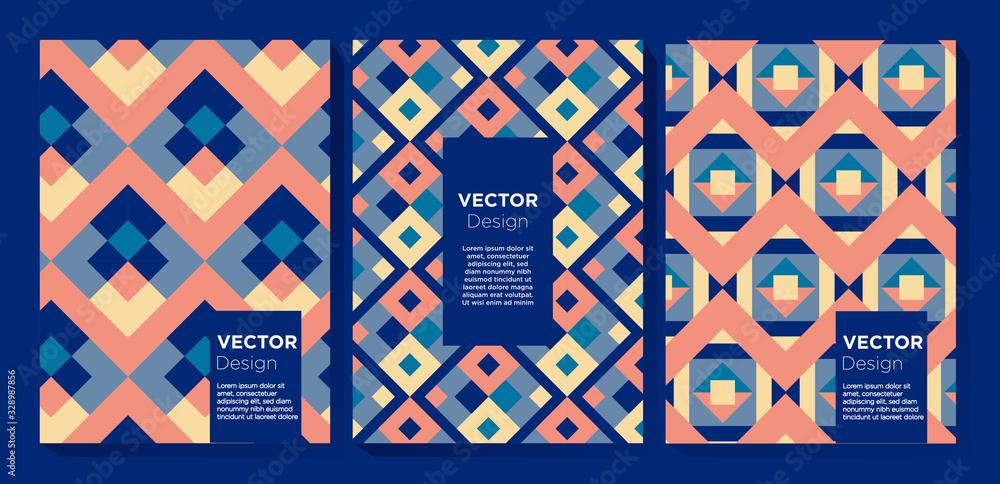 Abstract Colorful Pattern Design Set <span>plik: #328987856   autor: Bitterheart</span>