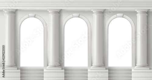 Ancient greek temple with pillars Poster Mural XXL