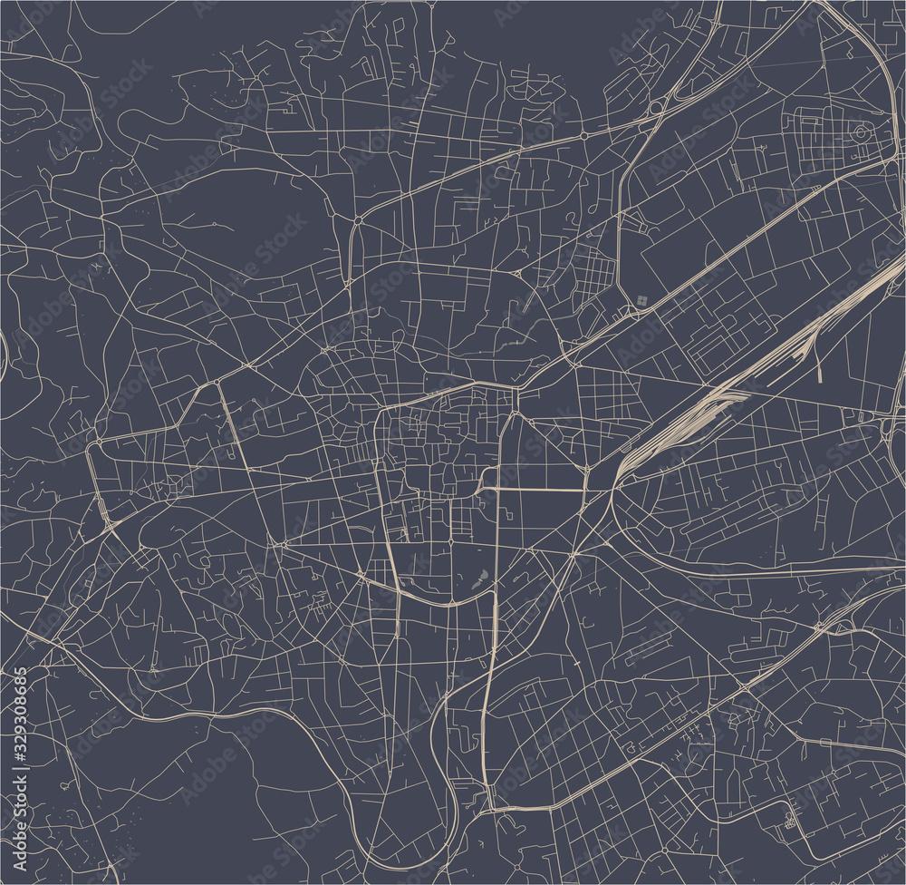 map of the city of Clermont-Ferrand, Puy-de-Dome, Auvergne-Rhone-Alpes , France <span>plik: #329308685   autor: tish11</span>