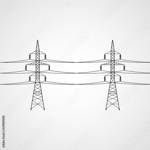 Wallpaper Mural Power lines