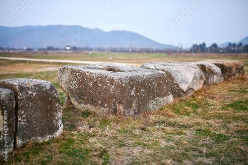 Cuadros en Lienzo Hwangnyongsa Temple Site in Gyeongju-si, South Korea.