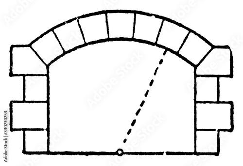 Valokuvatapetti Segmental Arch , element,  vintage engraving.