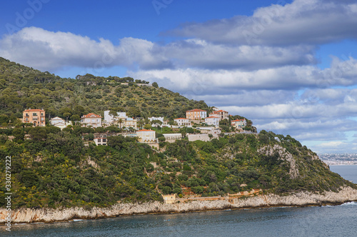 Wallpaper Mural Luxury condos on the coastal hillsides of the South of France