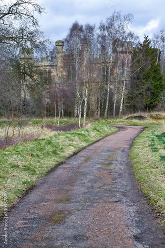 Fényképezés Exterior of Crawford Priory near Cupar, Fife, Scotland