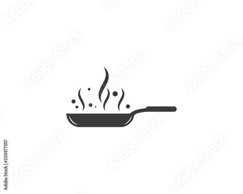 Carta da parati cooking pan logo vector template