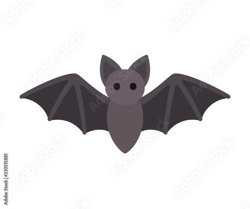 Canvastavla Cartoon bat icon