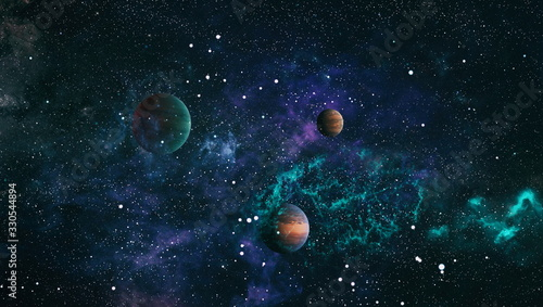 High quality space background. explosion supernova. Bright Star Nebula. Dista...