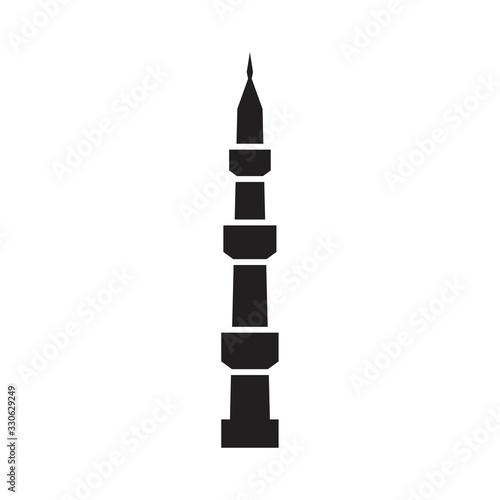 Wallpaper Mural Mosque minaret icon template black color editable