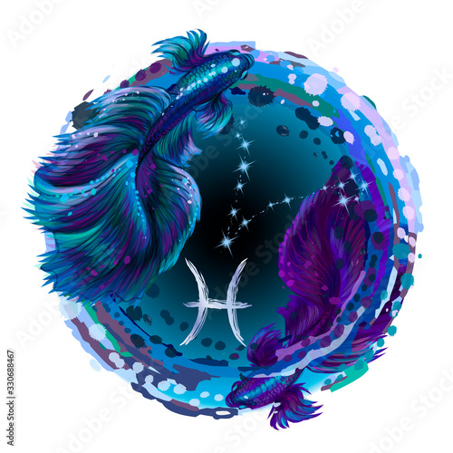 Fototapeta Pisces is a sign of the zodiac