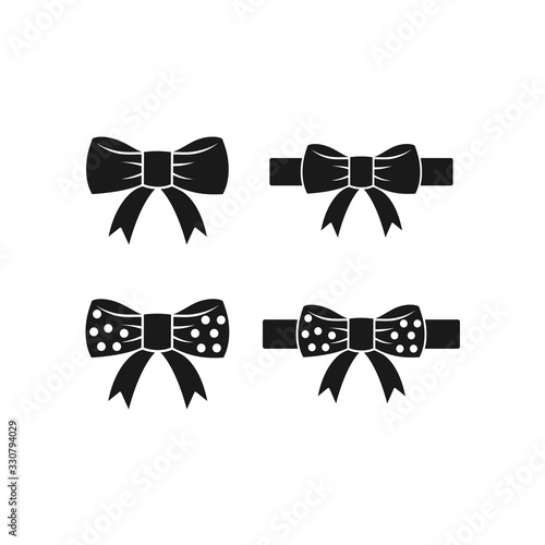 Canvas Print bow tie vector icon in trendy flat design