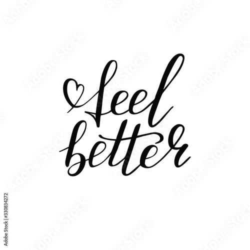 Cuadros en Lienzo Hand lettering feel better positive