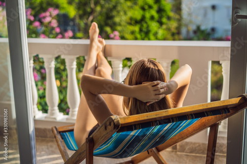 Stampa su Tela life-work balance, relaxation healthy quality living lifestyle in summer holiday