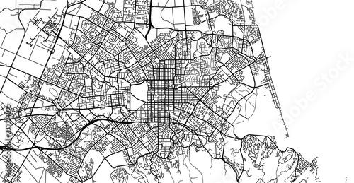 Fototapeta Urban vector city map of Christchurch, New Zealand