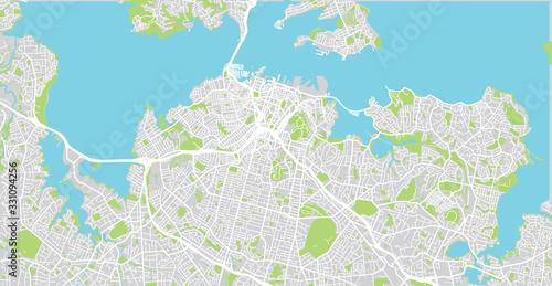 Fotografie, Obraz Urban vector city map of Auckland, New Zealand