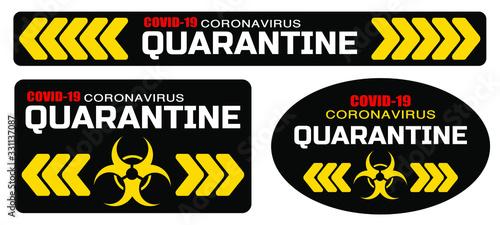 Fotografija coronavirus quarantine sign vector icon