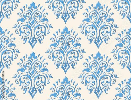 Fototapeta Damask seamless emboss pattern background