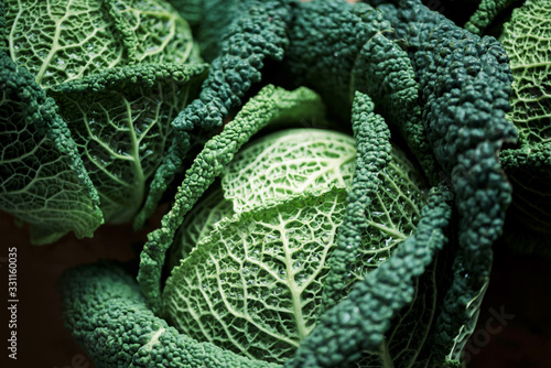 Fotomural Raw green cabbage texture