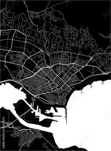 Obraz na plátně map of the city of Varna, Bulgaria