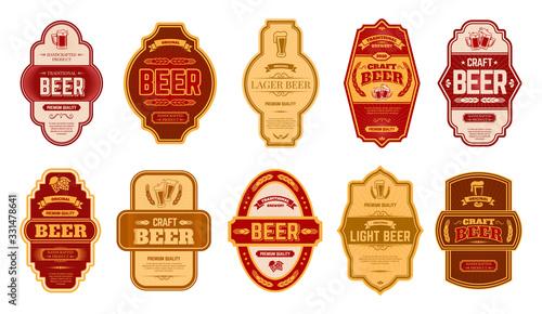 Fotografia, Obraz Beer vintage labels