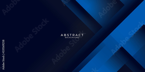 Dark blue background with abstract graphic elements for presentation background design.