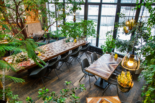 Stampa su Tela Interior of modern loft style restaurant