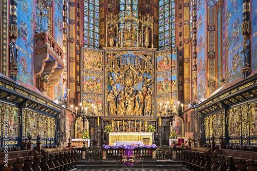 Leinwand Poster Veit Stoss altarpiece in St