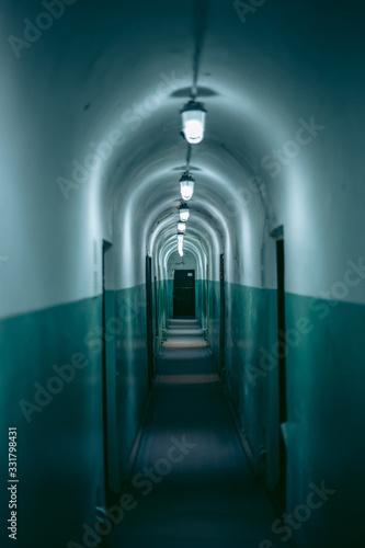 Soviet bunker underground in Korosten in Ukraine