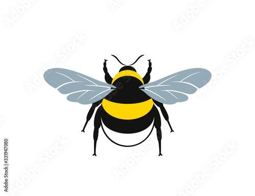 Fotografía Bumblebee logo. Isolated bumblebee on white background