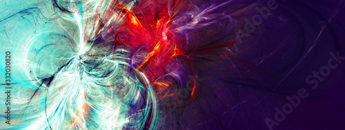 Abstract violet painting color background. Modern bright futuristic pattern. Fractal artwork for creative graphic design