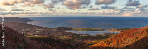 Fotografiet Bay St Lawrence Harbour, Cape Breton Island