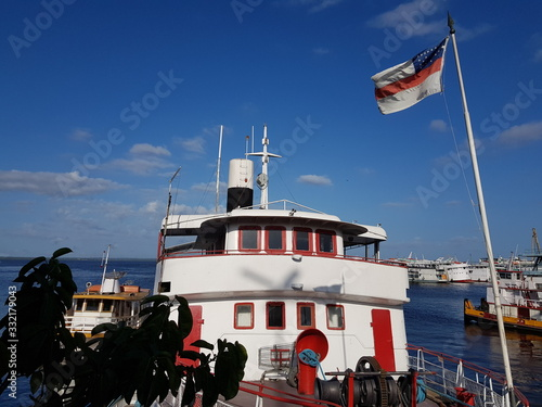 Fotografie, Obraz The Justo Chermont is an impressive 48 square meter steam ship, built in 1895 in England