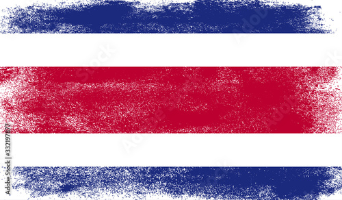 Photo Costa Rica flag with grunge texture