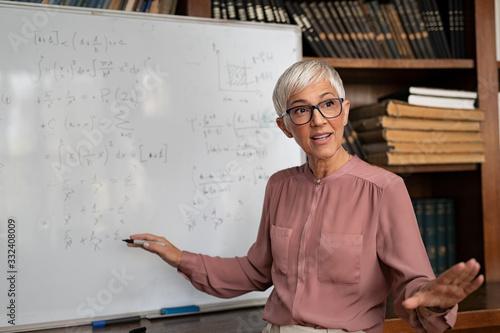 Fotografia College professor explaining math