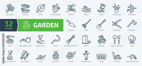 Obraz na płótnie Garden Icons Pack